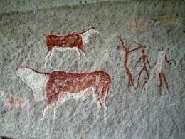 Rock art at Mkhosheni Shelter